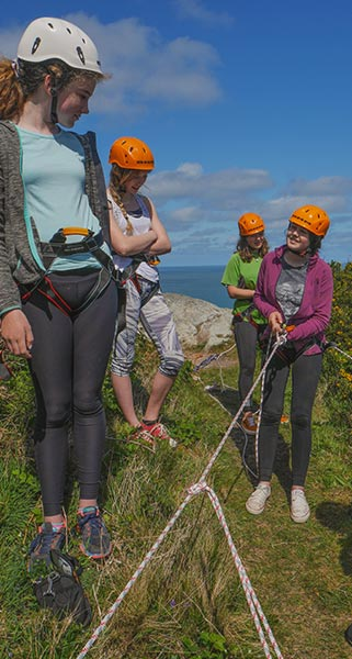 Abseiling a